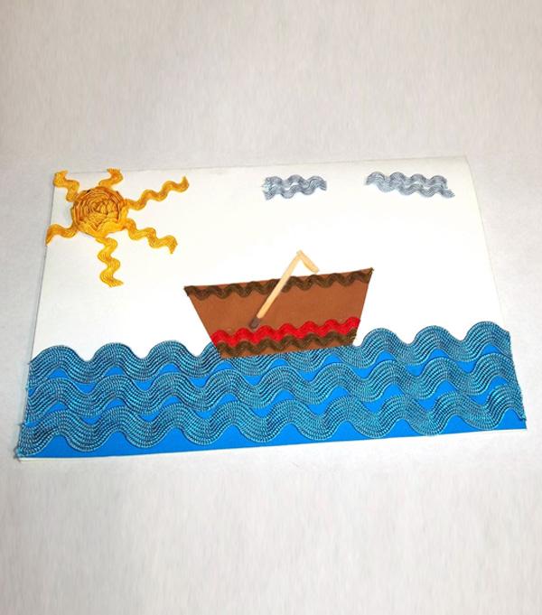 Artesanato Em Feltro Unicornio ~ Como fazer cartões com aviamentos para Dia dos Pais (passo a passo) u2013 HAK u2013 Blog de Artesanato