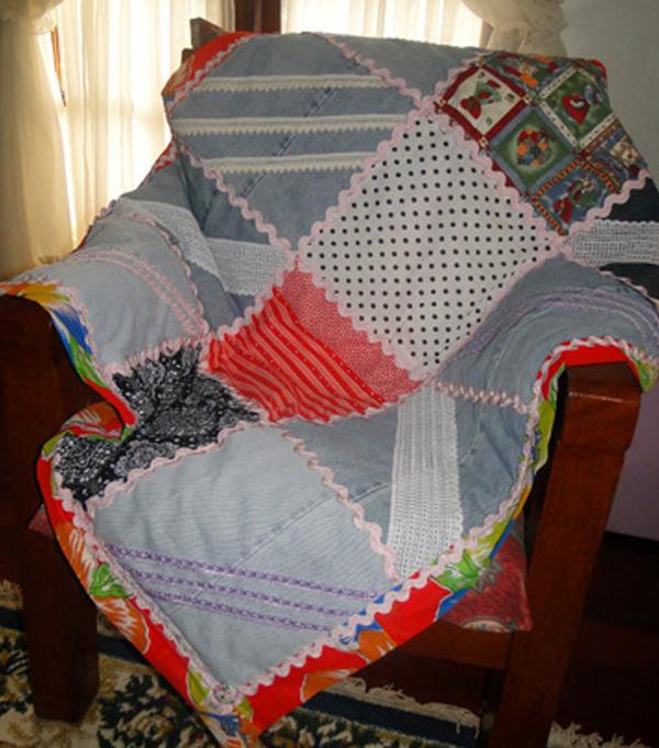 Como Fazer Uma Manta Para Sofa Com Retalhos E Passamanarias