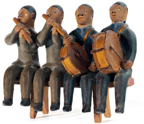Banda de músicos. Obra de Mestre Vitalino.