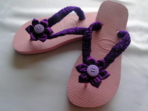 Primeiro modelo de sandália.