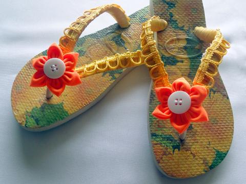 Segundo modelo de sandália.