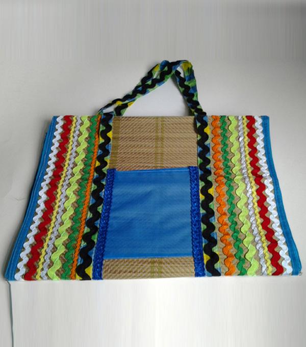 Bolsa De Mão Artesanal Como Fazer : Aprenda como fazer bolsa esteira para praia ou piscina com
