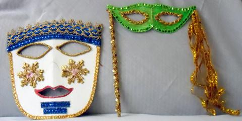 Máscaras de Carnaval para foliões