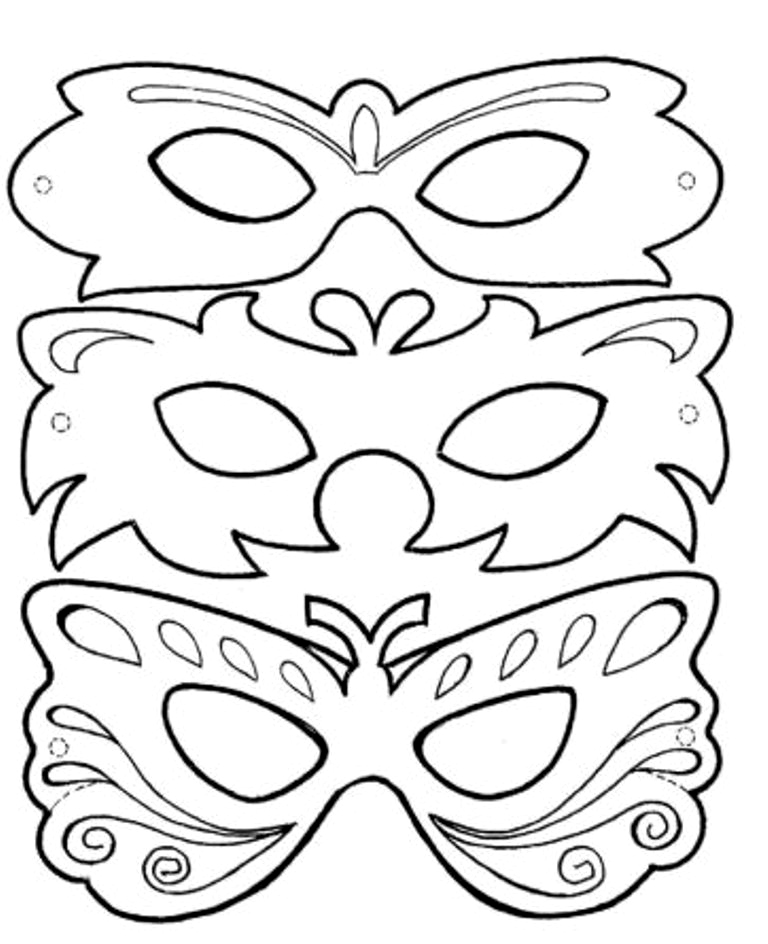 Molde para máscaras de Carnaval