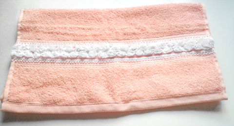 Toalha decorada para o Dia das Mães