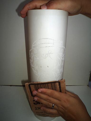 Aparador Vintage El Corte Ingles ~ Luminária em PVC decorada com passamanarias HAK u2013 HAK u2013 Blog de Artesanato