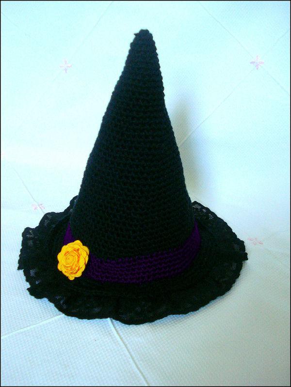 4a7c9ad039 Como fazer um chapéu de bruxa em crochê para Halloween – HAK – Blog ...