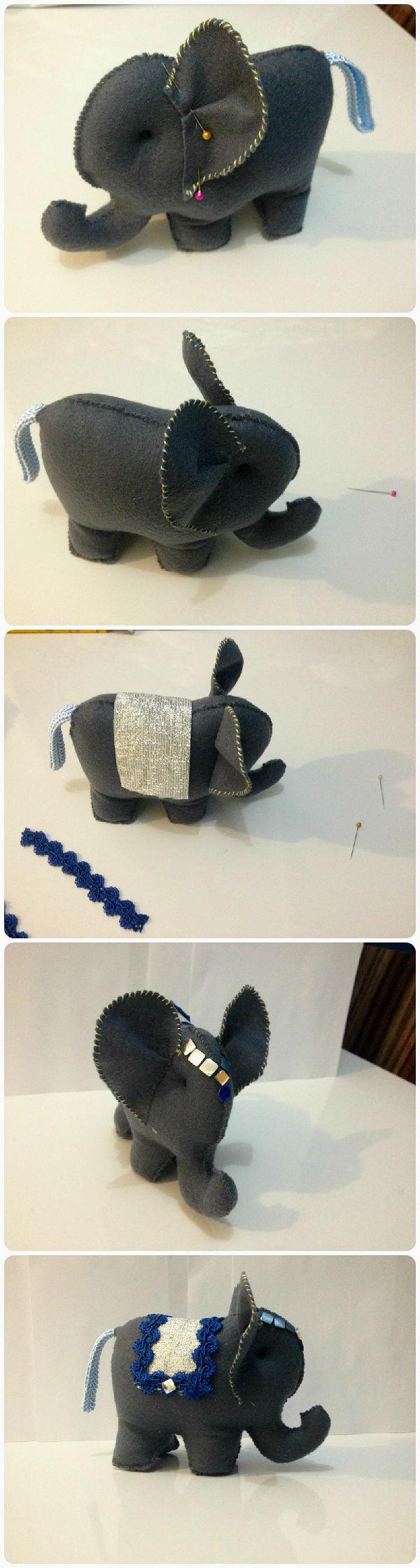 Aparador Nordico Segunda Mano ~ Como fazer um elefantinho indiano em feltro e com Hak