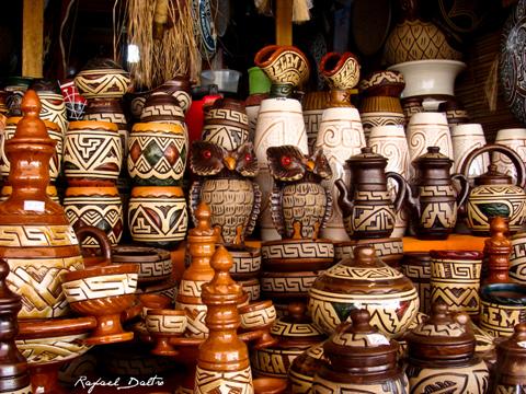 Vasos em cerâmica Marajoara